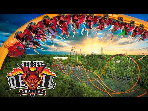 Jersey Devil Roller Coaster! NEW at Six Flags Great Adventure 2020! Offride POV