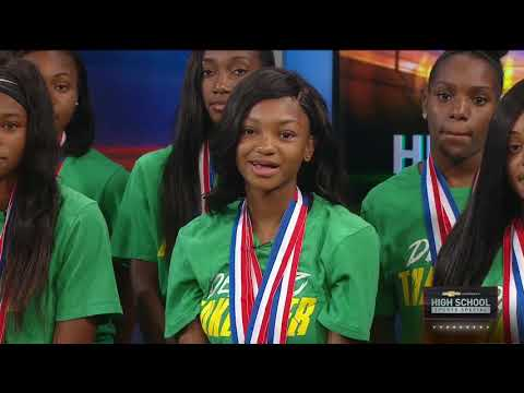 State champion DeSoto track and field team visits WFAA
