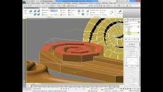 3dsMax уроки на русском 22 (построение завитка в виде спирали)