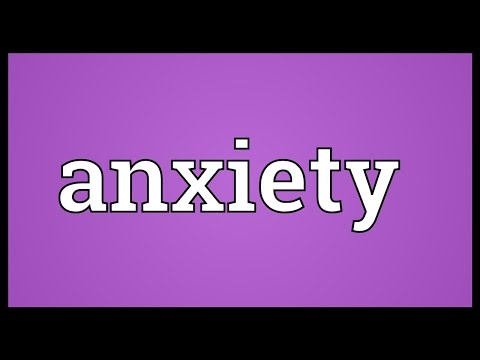 anxiety-meaning