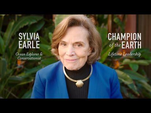 Oceanographer Sylvia Earle awarded Lifetime Achievement honor as a Champion of the Earth