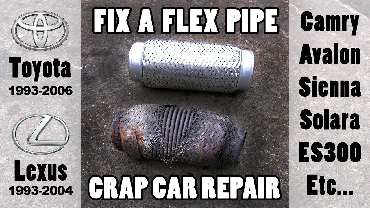 small resolution of fixing exhaust flex pipe leak when you re poor toyota lexus etc