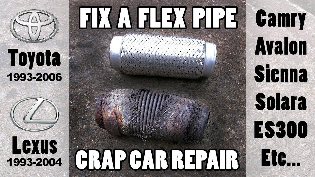 fixing exhaust flex pipe leak when you re poor toyota lexus etc  [ 1280 x 720 Pixel ]