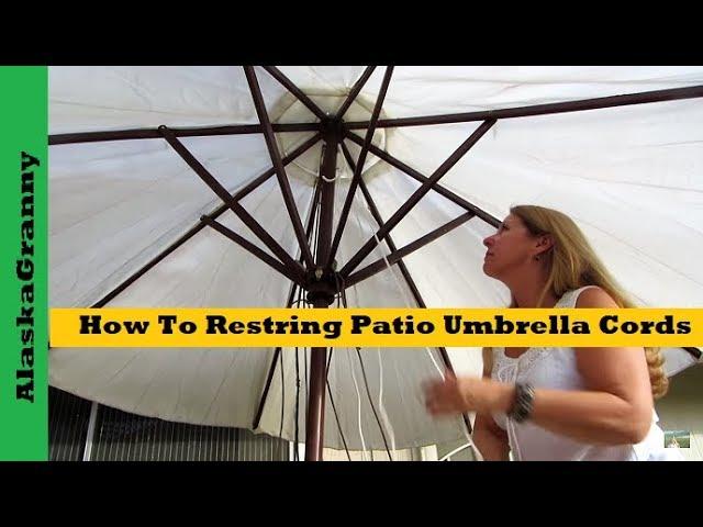 how to restring patio umbrella cords