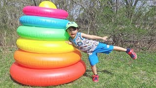 Ivan Play with Inflatable Stacking Rings Color Toy
