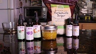 Calming Sugar Body Scrub Recipe   DIY Essential Oil Recipe   NOW Solutions