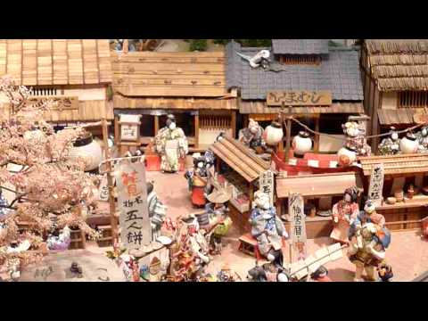 Miniature Diorama of 19th Century Osaka -- Japanese Canadian Cultural Centre, Toronto