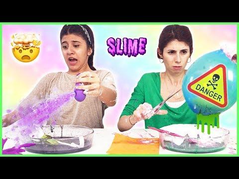 Balondan Ne Çıkarsa Slime Challenge Alfabe Slaym Eğlenceli Çocuk Videosu Dila Kent
