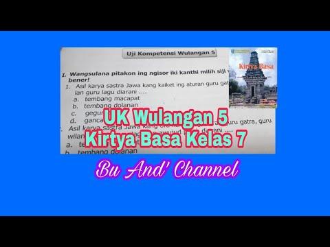 Uji Kompetensi Wulangan 5 Kirtya Basa Kelas 7 Youtube
