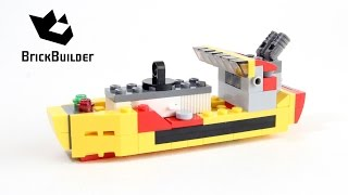 Lego Creator 31029 Cargo ship - Lego Speed Build