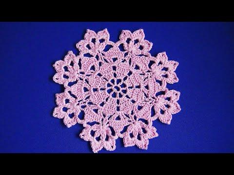 Салфетка крючком, урок для начинающих  Урок 164   Crochet Napkin