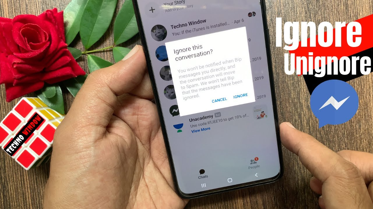 How to Ignore Messages and Unignore Messages on Facebook Messenger
