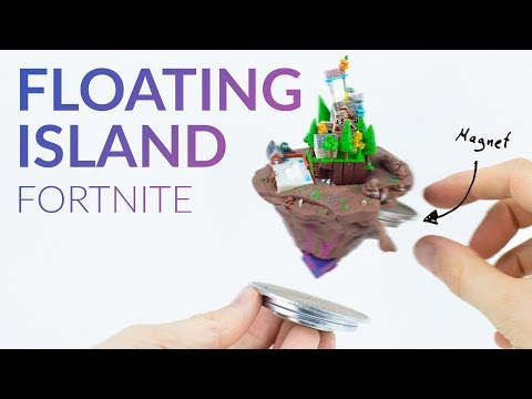 Putting a STRONG MAGNET into FLOATING ISLAND to make it FLY (Fortnite Battle Royale) – Polymer Clay