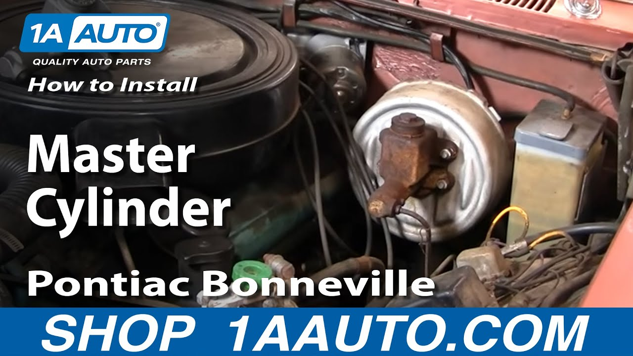 How To Replace Master Cylinder 59-60 Pontiac Bonneville