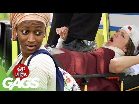 Paramedic Stomps On Injured Woman
