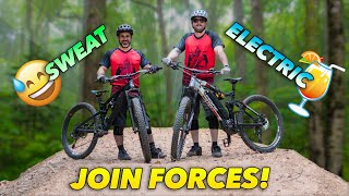 Doing E-Bike Laps with Johnny (except I'm not on an E-MTB)