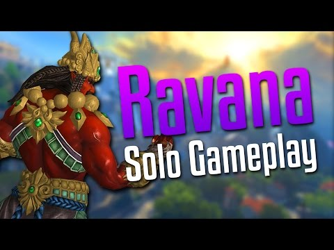 Smite: WHO AM I LANING AGAINST?!- Ravana Solo Gameplay