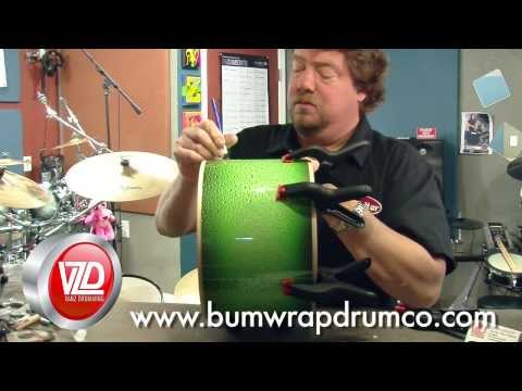 How to Install Drum Wrap Tutorial - Vanz Drumming - Bum Wrap Drum Company
