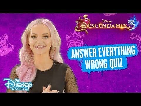 Descendants 3 | Dove Cameron Answers Everything Wrong  😂 | Disney Channel UK