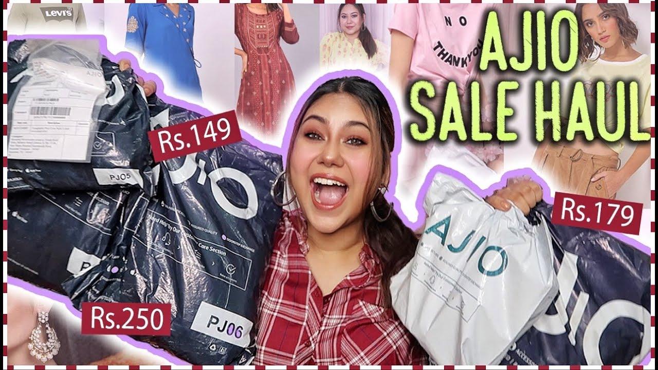 Huge Ajio SALE Haul (TRY ON) | Rs.179 Tshirts, Dresses, Kurtis & Jewellery Online! ThatQuirkyMiss