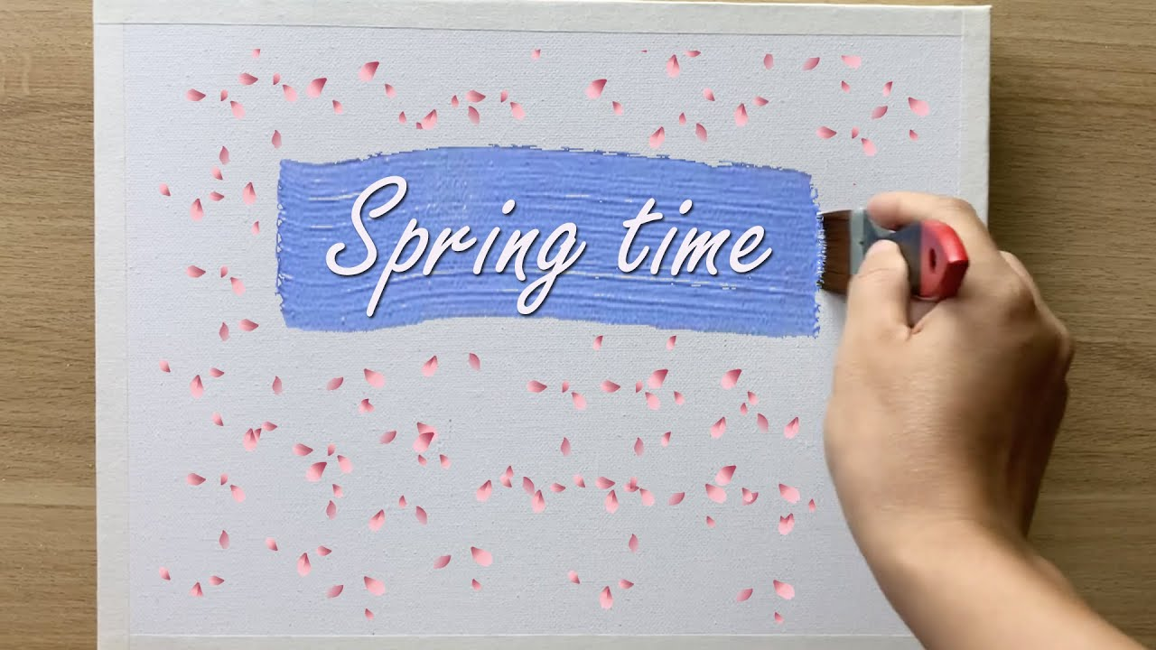 Daily challenge #184/ Foam Sponge / Spring Time Painting