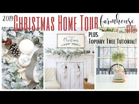 Christmas Home Tour 2019 ~ Farmhouse Style Home Tour ~ White Cottage Company Home Tour