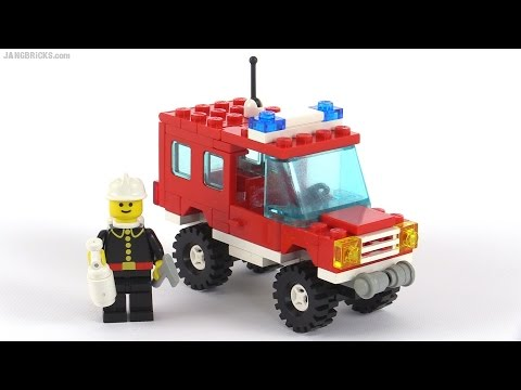 LEGO Classic Town Fire Chief's Truck from 1988! set 6643