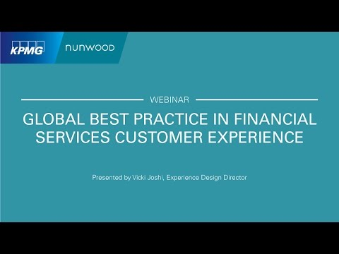 Global Best Practice in Financial Services Customer Experience