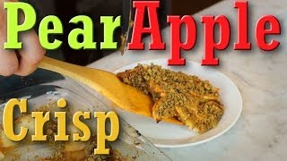 Pear Apple Crisp: Gluten Free Vegan Dessert Recipe