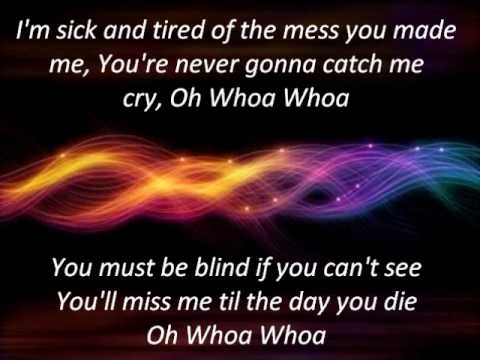 (HQ) BLIND - KE$HA - LYRICS ON SCREEN!!!