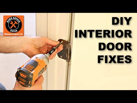How To Fix Prehung Interior Doors By Home Repair Tutor Youtube