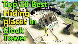 Free fire top 10 hide places in clock tower tricks tamil