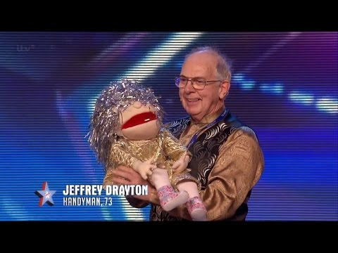 Britain's Got Talent 2015 S09E02 Jeffrey Drayton's Hilarious Comedy Puppet Magic Act