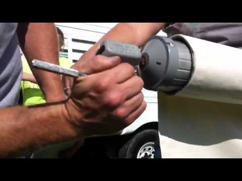 Replacing the awning fabric on an A&E model 8500 RV awning. (Part 2) By How-to Bob