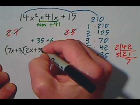 Factoring Trinomials With Large Numbers Shortcut Using Primes ...
