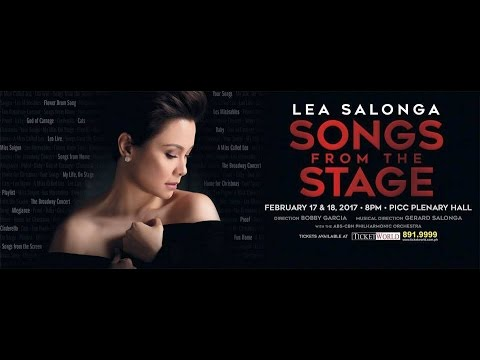 LEA SALONGA Songs from the Stage February 17 & 18, 2017 PICC, Philippines