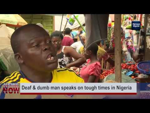 Deaf & dumb man speaks on tough times in Nigeria