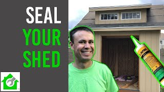 Adhesive & Sealant to Seal Cracks and Gaps in Projects (example: Build Shed)