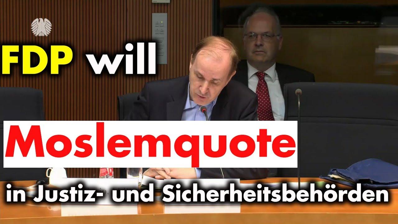 Anhörung im Innenausschuß: FDP will Moslemquote