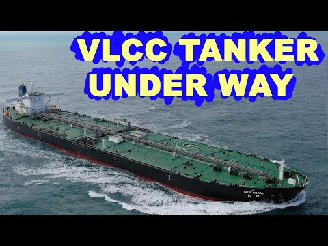VLCC tanker under way.