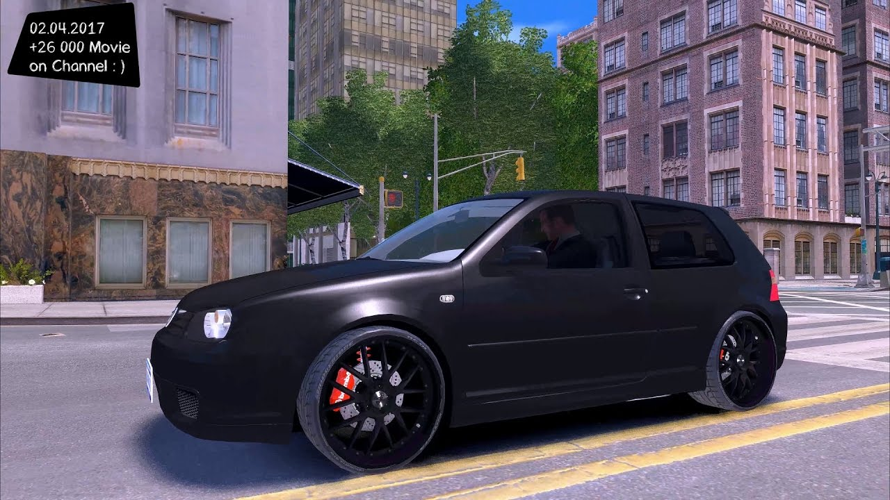 volkswagen golf iv r32 v2 gta iv tuning 4k 60fps. Black Bedroom Furniture Sets. Home Design Ideas