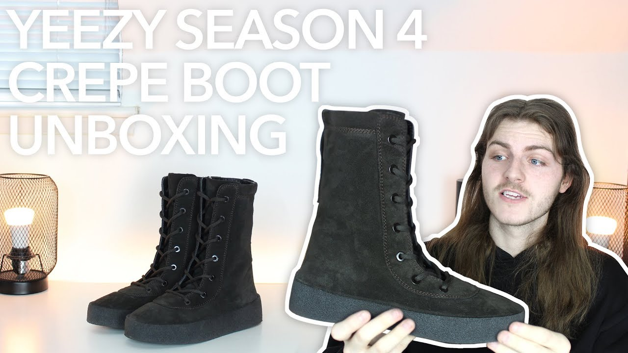 535f7e1d2 Yeezy Season 4 Crepe Boot Unboxing - YouTube