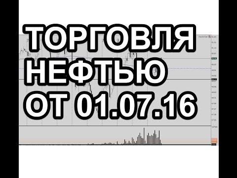 Торговля нефтью в пятницу 01.07.16, торговля от часовых уровней.