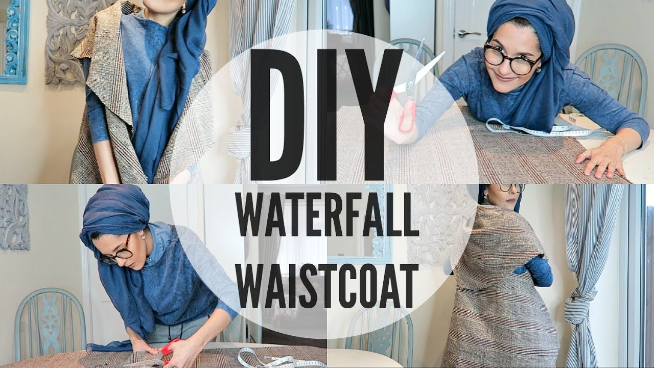DIY | WATERFALL WAISTCOAT | BEGINNERS - YouTube