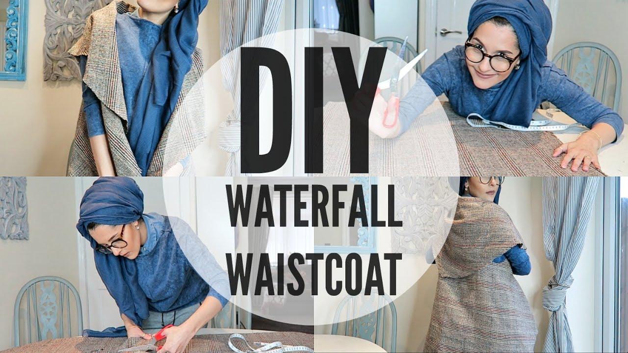 DIY | WATERFALL WAISTCOAT | BEGINNERS - YouTube