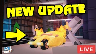 🔴 Roblox Jailbreak NEW UPDATE IS HERE | NEW GARAGE + MORE | NEW LIGHTING CONFIRMED | ROBUX GIVEAWAY