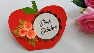 How to make Card for favorite Teacher | Greeting Card for Teacher's