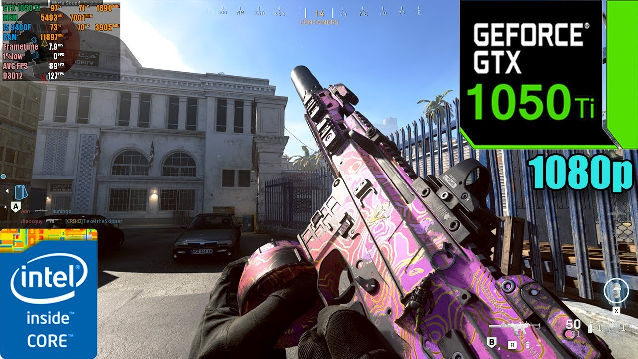 Call of Duty : Modern Warfare Season 5 | GTX 1050 Ti 4GB + i5 9400F