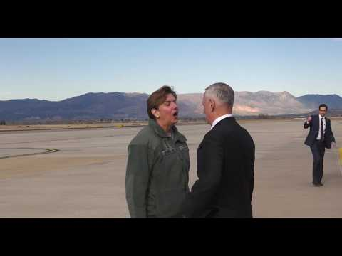 Secretary of Defense Mattis Arrives at Peterson AFB