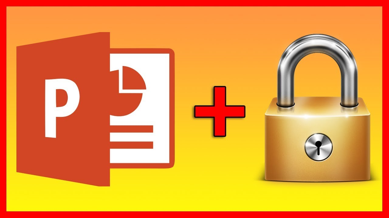How to lock a PowerPoint 2016 file with a password - Tutorial - YouTube